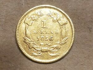 Click now to see the BUY IT NOW Price! 1856 $1 GOLD PRINCESS HEAD TYPE III GOLD DOLLAR LIBERTY T3 NICE DETAILS