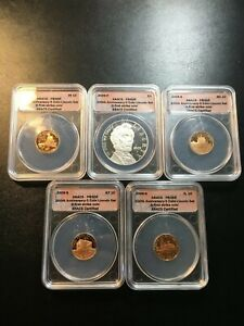 2009 PROOF LINCOLN CHRONICLES SET ANACS PROOF   5 COIN SET   CERTIFIED SLAB   1C
