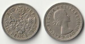 1957 GREAT BRITAIN SIXPENCE COIN