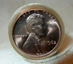 1962 P LINCOLN PENNY ROLL 50 COINS. SHINY & BRIGHT; FROM MY DAD'S COLLECTION.