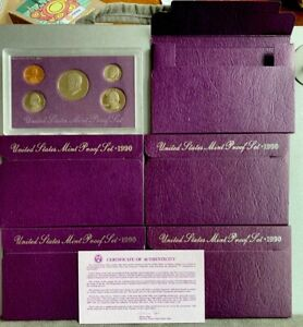1990 S  U.S.PROOF SET. GENUINE. COMPLETE AND ORIGINAL AS ISSUED BY US MINT.