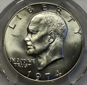 1974 S SILVER IKE DOLLAR $1 PCGS MS66 BRILLIANT UNCIRCULATED   SUPER HIGH GRADE