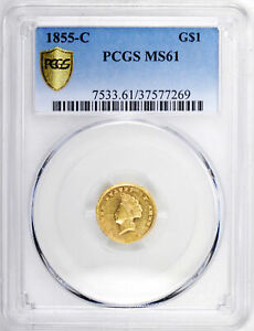 Click now to see the BUY IT NOW Price! 1855 C GOLD G$1 PCGS MS 61