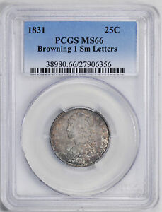 Click now to see the BUY IT NOW Price! 1831 CAPPED BUST 25C PCGS MS 66