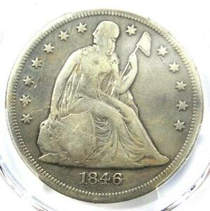 1846 O SEATED LIBERTY SILVER DOLLAR $1   PCGS FINE DETAILS    DATE COIN