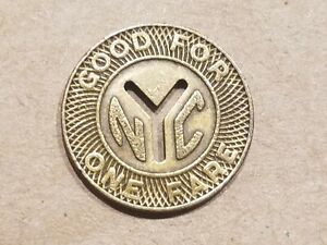Click now to see the BUY IT NOW Price! NEW YORK CITY SUBWAY TRAIN BUS METRO TRANSIT TOKEN SMALL CUT OUT Y NYC NICE