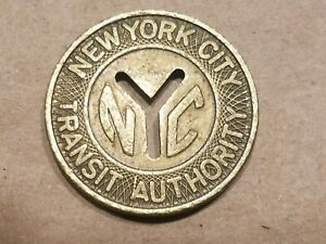 Click now to see the BUY IT NOW Price! NEW YORK CITY SUBWAY TRAIN BUS METRO TRANSIT TOKEN LARGE CUT OUT Y NYC NICE