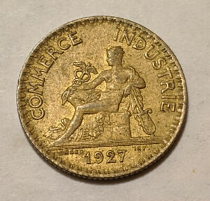 FRANCE 1 FRANCE 1927 KM 876 MERCURY GOD OF ABUNDANCE AND COMMERCE 18K