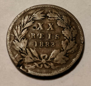 1883 PORTUGAL PORTUGESE 20 REIS KING LOUIS I KM 527 25.1