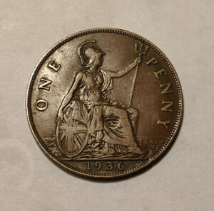 GREAT BRITAIN 1 PENNY 1936 KM 838 GEORGE V 1F