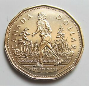 2005 CANADA TERRY FOX COMMEMORATIVE LOONIE   COMBINED SHIPPING