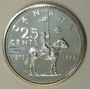 1973 CANADA PROOF LIKE 25 CENTS