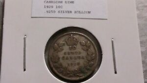 1920 10C SILVER CANADIAN DIME 4505