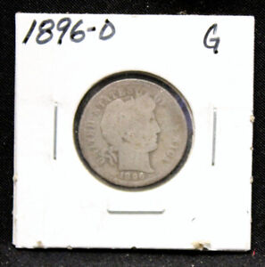 1896 O BARBER DIME IN GOOD CONDITION  BD321