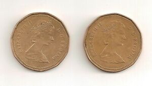 1987 AND 1988 CANADIAN 1 DOLLAR COINS