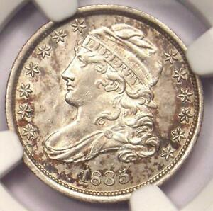 1835 CAPPED BUST DIME 10C COIN   CERTIFIED NGC UNCIRCULATED DETAILS  UNC MS