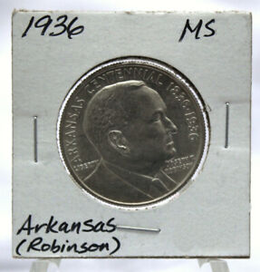 UNCIRCULATED 1936 ARKANSAS  ROBINSON  COMMEMORATIVE SILVER HALF DOLLAR  COM292