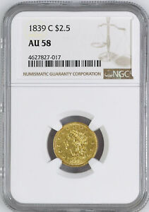 Click now to see the BUY IT NOW Price! 1839 C CLASSIC HEAD $2.5 NGC AU 58
