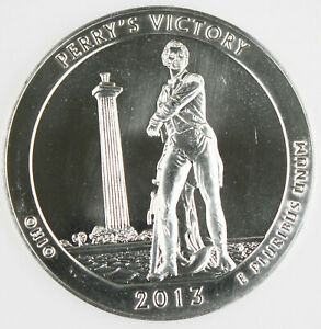 2013 PERRY'S VICTORY AMERICA THE BEAUTIFUL NATIONAL PARK 5 OZ SILVER COIN GEM BU