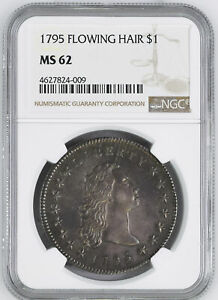 Click now to see the BUY IT NOW Price! 1795 FLOWING HAIR $1 NGC MS 62