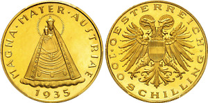 Click now to see the BUY IT NOW Price! 1935 AUSTRIA REPUBLIC GOLD 100 SCHILLING PCGS PL64