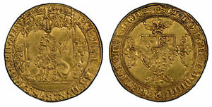Click now to see the BUY IT NOW Price! BELGIUM FLANDERS BRUGES. PHILIPPE LE BON  1419 67  AV LION D'OR PCGS MS62 BRUGES