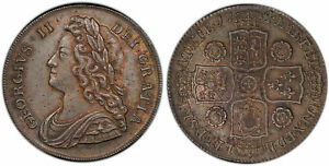 Click now to see the BUY IT NOW Price! GREAT BRITAIN. GEORGE II. 1741 AR HALFCROWN. NGC MS63 SCBC 3693; ESC 1681