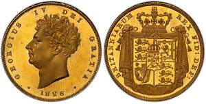 Click now to see the BUY IT NOW Price! GREAT BRITAIN. GEORGE IV 1826 AV TWO POUNDS. PCGS PR65 CAMEO SCBC 3799; W&R 228
