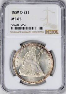 Click now to see the BUY IT NOW Price! 1859 O LIBERTY SEATED S$1 NGC MS 65