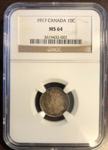 Click now to see the BUY IT NOW Price! 1917 CANADA 10C MS64 NGC  SB11:K