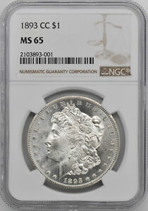 Click now to see the BUY IT NOW Price! 1893 CC MORGAN S$1 NGC MS 65