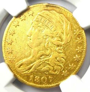 1807 CAPPED BUST GOLD HALF EAGLE $5   CERTIFIED NGC XF DETAILS    GOLD COIN