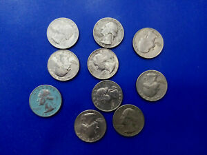 USA COIN LOT OF QUARTER DOLLAR 10 PCS T3203