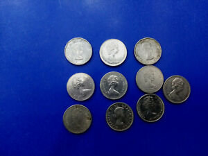 CANADA COIN LOT OF 5 CENTS 1958  1987 10 PCS   T2823