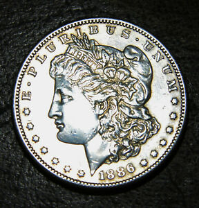 1886 S MORGAN SILVER DOLLAR. BEAUTIFUL  DATE STRONG MS  DETAILS NICE