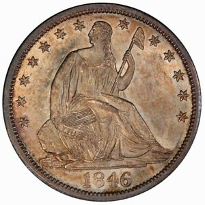 Click now to see the BUY IT NOW Price! 1846 O 50C TALL DATE LIBERTY SEATED HALF DOLLAR PCGS MS62  CAC
