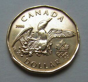 2008 CANADA OLYMPIC COMMEMORATIVE LUCKY LOONIE   COMBINED SHIPPING