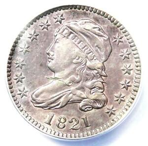 1821 CAPPED BUST DIME 10C   ANACS XF40 DETAILS  EF40     CERTIFIED COIN