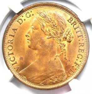 1874 GREAT BRITAIN VICTORIA PENNY   CERTIFIED NGC MS63 RB  BU UNC    NICE LUSTER