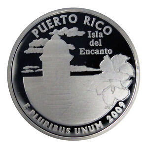 2009 S TERRITORY QUARTER PUERTO RICO GEM DEEP CAMEO PROOF 90  SILVER US COIN