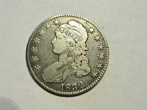 1832 CAPPED BUST HALF DOLLAR    NICE DETAILS BOLD LETTERS & STARS