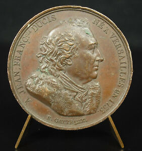 MEDAL 1816 JEAN FRANOIS DUCIS SC GATTEAUX THEATRE POETRY ACADEMY FRENCH