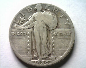 1930 STANDING LIBERTY QUARTER GOOD  VG  NICE ORIGINAL COIN FROM BOBS COINS