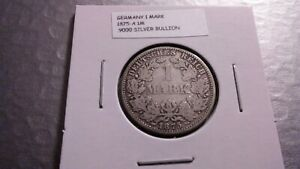 1875A 1M SILVER EMPIRE GERMAN MARK 4688