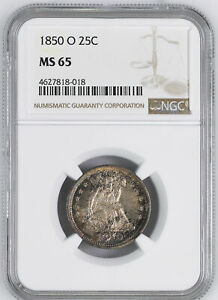 Click now to see the BUY IT NOW Price! 1850 O LIBERTY SEATED 25C NGC MS 65