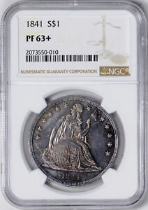 Click now to see the BUY IT NOW Price! 1841 LIBERTY SEATED S$1 NGC PR 63