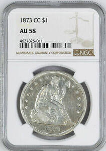 Click now to see the BUY IT NOW Price! 1873 CC LIBERTY SEATED S$1 NGC AU 58