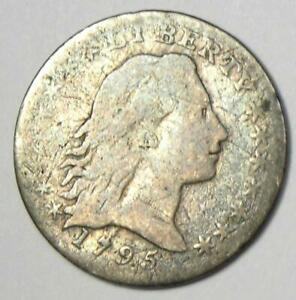 1795 FLOWING HAIR HALF DIME H10C   FINE DETAILS    TYPE COIN