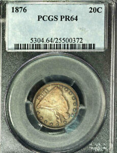 Click now to see the BUY IT NOW Price! 1876 20C PR64 PCGS ONLY 44 IN HIGHER GRADE  TWENTY CENTS