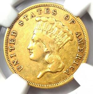 1859 THREE DOLLAR INDIAN GOLD COIN $3   CERTIFIED NGC VF DETAILS    DATE